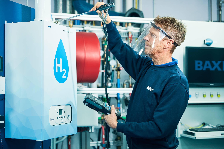 R&D testing a 100 per cent hydrogen boiler