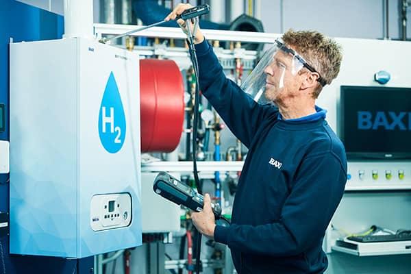 Research & Development testing a 100% hydrogen boiler